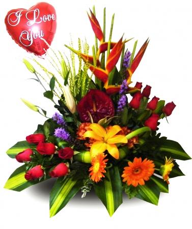 Arreglo Floral Corazón Grande
